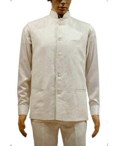 AUM DESIGN WHITE CLASSIC WAIST COAT