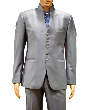 AUM DESIGN GRAY EMBROIDERED 2 PIECE TRENDY SUIT