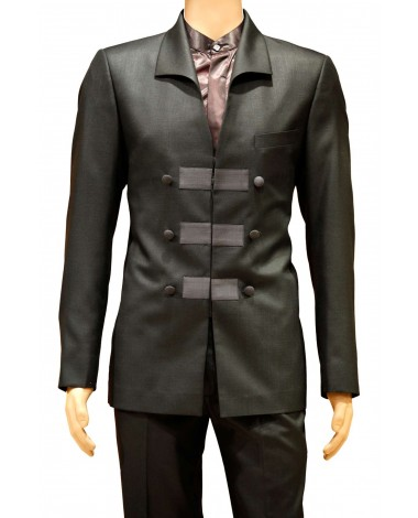 AUM DESIGN BLACK 2 PIECE TRENDY SUIT