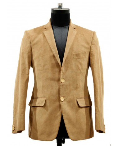 AUM DESIGN BROWN JACKET WITH DESIGNER BUTTONS