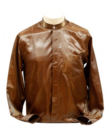 AUM DESIGN BROWN ROUND NECK SHIRT