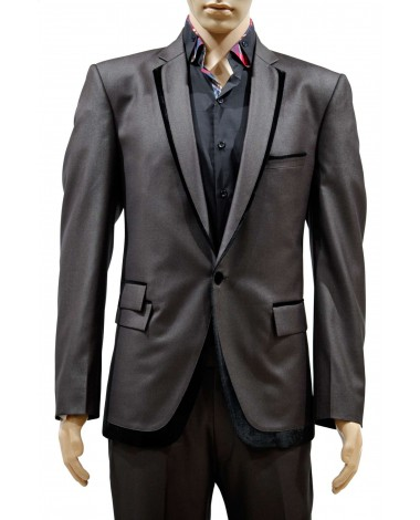 AUM DESIGN BROWN 2 PIECE STYLISH SUIT