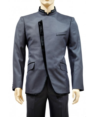 AUM DESIGN BLUE ANGRAKHAROUND NECK SUIT