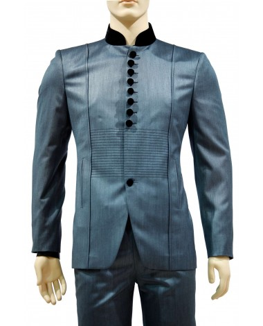 AUM DESIGN BLUE 2 PIECE TRENDY ROUND NECK SUIT