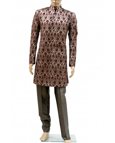AUM DESIGN ROYAL BROWN LURIX INDOWESTERN OUTFIT SHERWANI