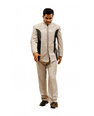 AUM DESIGN BLUE CONTEMPORAY JODHPURI SUIT