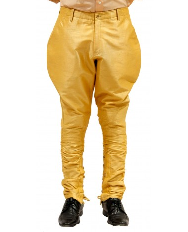 AUM DESIGN BEIGE POLO PANT WITH BUTTONED CALVES