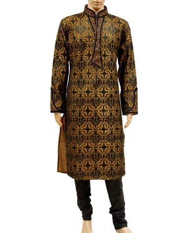 AUM DESIGN GOLDEN ENCHANTING FULLY EMBROIDERED KURTA PAYJAMA