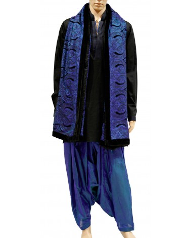AUM DESIGN SIMPLE KURTA WITH SALWAR EMBROIDERED HEAVY STOLE