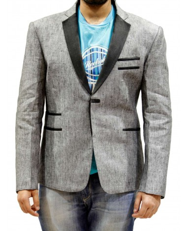 AUM DESIGN GREY SHORT COAT