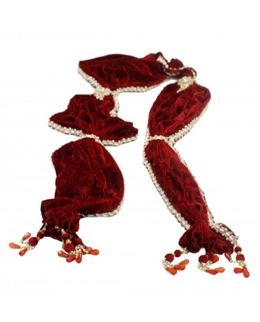 Aum Design Embroidered Maroon Stole