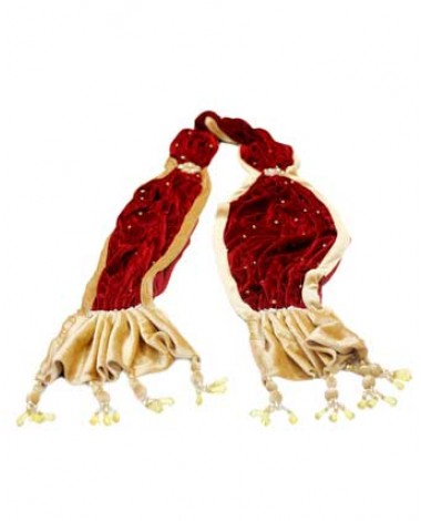 Aum Design Menswear Red and Golden Stole