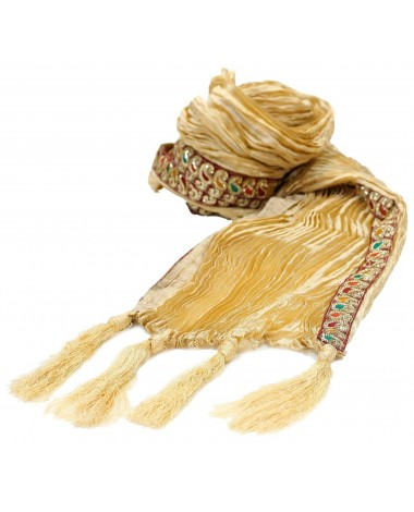 AUM DESIGN EMBROIDERED BRIGHT GOLDEN STOLE