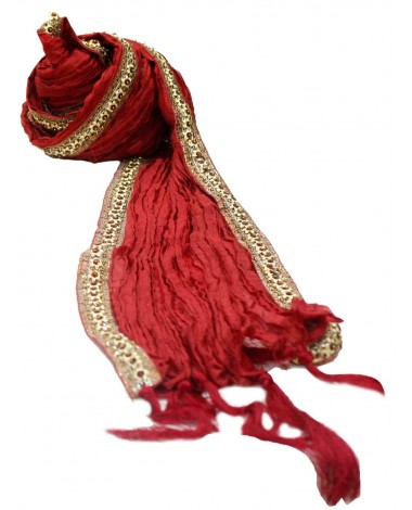 Aum Design Embroidered Maroon and Golden Stole
