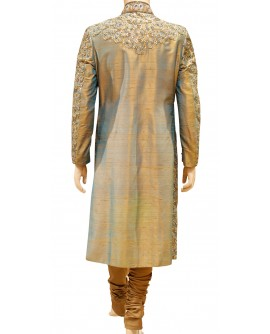 AUM DESIGN BROWN ORNATE SHERWANI