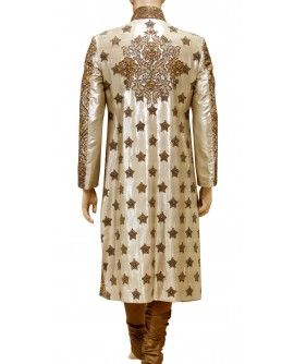 AUM DESIGN GOLDEN LONG LENGTHS SHERWANI