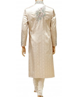 AUM DESIGN EXCLUSIVE CREAM ELEGANT SHERWANI