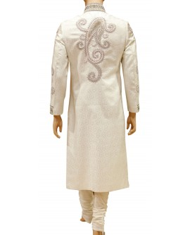 AUM DESIGN REGAL PINK & GOLDEN SHERWANI WITH PAYJAMA