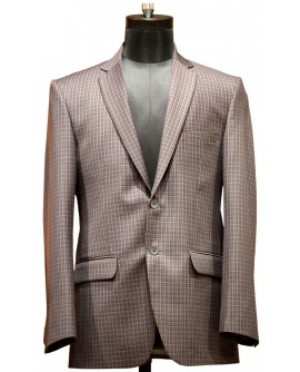 AUM DESIGN BROWN ENGLISH BLAZER