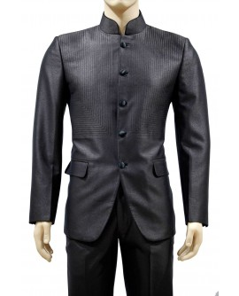 AUM DESIGN BROWN 2 PIECE ROUND NECK SUIT