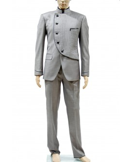 AUM DESIGN GRAY 2 PIECE ANGRAKHASUIT
