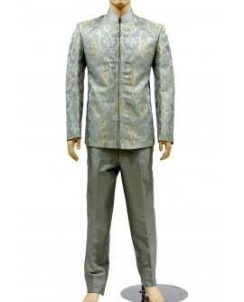 AUM DESIGN BLUE KIM KHWAB LUXURIOUS JODHPURI SUIT WITH DESIGNING JODHPURI TROUSER
