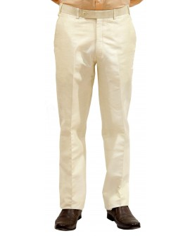 AUM DESIGN CREAM STRAIGHT FIT TROUSER