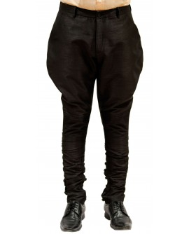 AUM DESIGN BLACK POLO PANT WITH BUTTONED CALVES