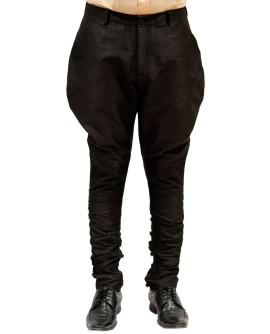 AUM DESIGN BLACK POLO PANT WITH BUTTONED CALVES