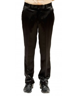 AUM DESIGN BLACK STRAIGHT FIT TROUSER