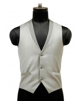 AUM DESIGN GREY STYLIZED WAIST COAT