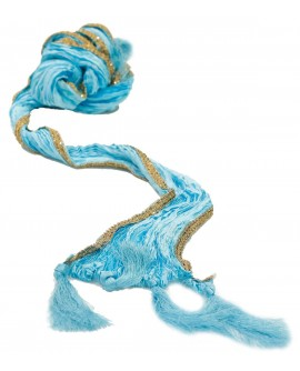 Aum Design Embroidered Sky Blue Stole