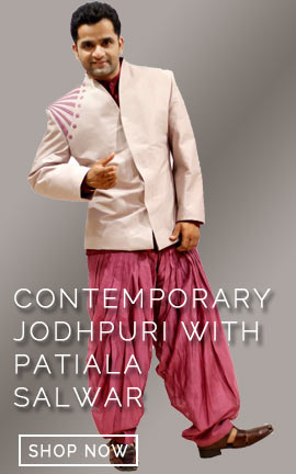A Contemporary Jodhpuri with patiala salwar